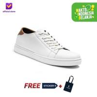Sepatu Sneakers Pria Footstep Footwear - Alter White - Putih, 39
