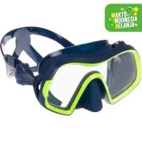 Subea Kacamata Scuba Diving Mask 500 Mono Biru Decathlon - 8552338 - M