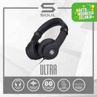 SOUL ULTRA High Definition Dynamic Bass On-Ear Headphone - SILVER - Hitam