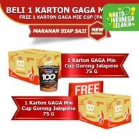 Mie Cup GAGA100 Extra Pedas Goreng Jalapeno Beli 1dus FREE 1dus (GG63)