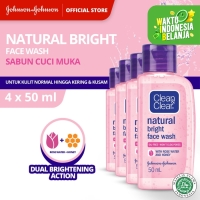 CLEAN&CLEAR Natural Bright Face Wash 50ml (4pcs)