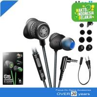 Plextone G15 Stereo Earphone Headset Mic Gaming PUBG ML FF Hitam