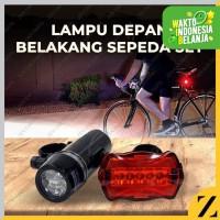 Lampu sepeda Depan Belakang SET Baterai Non Rechargeable
