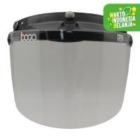 Visor/Kaca Helm Retro Bogo Flat datar Clear Original