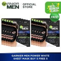 Garnier Men Power White Sheet Mask 5 Free 5