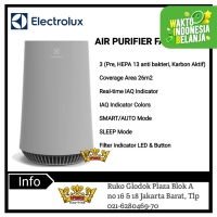 ELECTROLUX Air Purifier Coverage Area 26m2 FA31-202GY