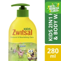 Zwitsal Kids 2 In 1 Sabun Mandi Cair Anak Natural And Nourish 280Ml