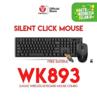 Fantech Keyboard Mouse Wireless TERMURAH WK893 SILENT CLICK