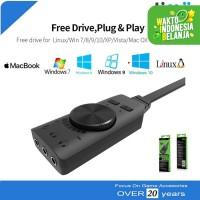 SoundCard USB Adapter 7.1 Surround Virtual GS3 Plextone PC Laptop PS4