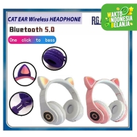 CAT EAR WIRELESS Bluetooth Headphone With LED + Mic 5.0 Extra Bass