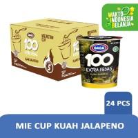 Mie Cup GAGA100 Extra Pedas Kuah Jalapeno 1 dus = 24 pcs Harga Grosir
