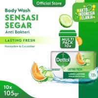 Dettol Barsoap Lasting Fresh 105 gr Super Hemat (Isi 10)