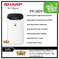 SHARP AIR PURIFIER FP-J60Y-W [Coverage Area for 48 m²]