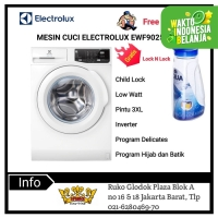 ELECTROLUX Mesin Cuci Front Loading Low Watt EWF9025DQWA