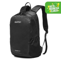 Real Polo BCI New Arrival Tas Ransel Kasual Backpack Up to 12 inch - Hitam