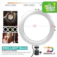 Ring Light Cruf LED 20 Cm / 8 inch Make Up Vlog Live streaming