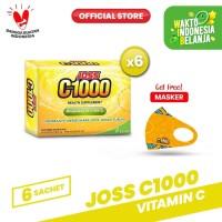 Joss C1000 Vitamin C 6 Pack (36 sachet) FREE Masker