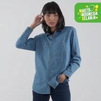 Edwin Jeans Kemeja Denim Jeans Ayako 02 Lengan Panjang - Ladies
