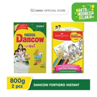 DANCOW Fortigro Susu Bubuk Instant Box 800g 2 Pcs Gratis Buku Mewarnai
