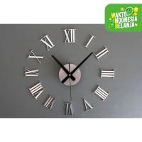 Jam Dinding Besar Raksasa Angka Romawi 3D Giant Wall Clock DIY 60cm