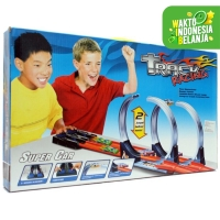 TRACK RACING JALAN HOT WHEELS 2 JALUR MELUNCUR HALILINTAR