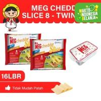 MEG Cheddar Slice 8 Lembar Twinpack - Free Lunch Box