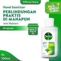 Dettol Hand Sanitizer Original 100 ml Flip Top Bottle - 5 Pcs