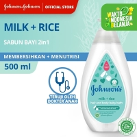 Johnson's Baby Bath Milk+Rice Pump 500ml