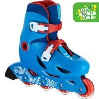 Oxelo Sepatu Roda Anak Pemula Play 3 Biru Decathlon - 8366197