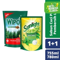 Sunlight Lime 755Ml dan Wipol Cemara 780 Ml