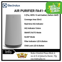 ELECTROLUX Air Purifier Coverage Area 53m2 FA41-402GY