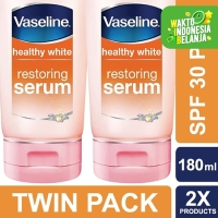 Vaseline Healthy White Serum Pemutih Badan Spf 30 Pa++ 180Ml Twin Pack