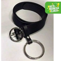FortKlass DOUBLE RING - Ikat Pinggang Wanita Ring Belt Kulit