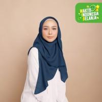 Diario - Hijab Wanita Plain Scarf Voal Blue Series
