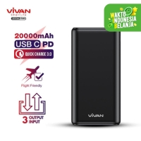 VIVAN Powerbank 20000mAh 3 Input & 3 Output Garansi 1 Tahun VPB-H20S