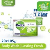 Sabun Batang Anti Bakteri Dettol Lasting Fresh 105g x 20pcs