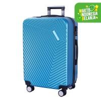 Real Polo Tas Koper Kabin Hardcase Fiber ABS-4 Roda Putar-EJFA Size 20 - Biru Muda