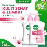Dettol Sabun Cuci Tangan Skincare 245ml x 2pcs Pump [PAKET HEMAT]