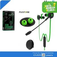 Plextone G30 Mic Stereo Bass Gaming Hammerhead Earphone Headset Hijau