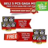 Mie Cup GAGA100 Extra Pedas Kuah Jalapeno Beli 5pcs FREE 5pcs (GG66)