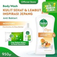 Dettol Bodywash Honey 950gr [FREE Sanitizer NEW + Wipes Original 10s]