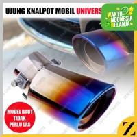Tailpipe 1 Lobang Rainbow Pelangi Racing Ujung Kenalpot Universal