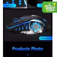 Mouse Gaming Wireless 2.4Ghz Rechargeable ELITEGEAR Silent Click CH001
