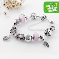 Angel Charm Bracelet Gelang Kristal Swarovski Crystals from Swarovski