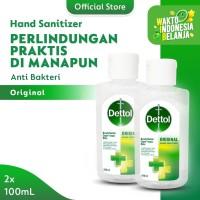 Dettol Hand Sanitizer Original 100 ml Flip Top Bottle - 2 Pcs