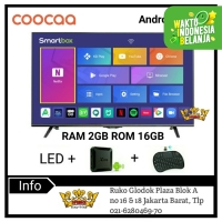 COOCAA LED HD TV 32 inch Smart Android Box Ram 2GB 32TB1000