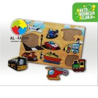 Alat Permainan Edukatif/ Mainan Edukasi/ Puzzle Kayu Transportasi