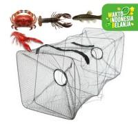 BUBU jaring perangkap ikan udang kepiting lobster 2 lubang Lipat 6194