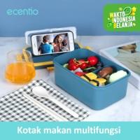 ecentio Kotak Makan 3 Kompartemen 1500 ml