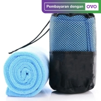 TERMURAH! Handuk Microfiber Quick Dry/ Handuk Olahraga Gym - Sky Blue